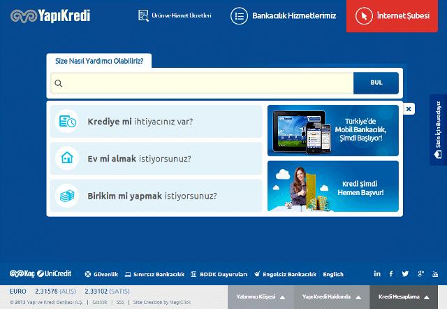 Yapı Kredi Yeni Websitesi ile Ezber Bozuyor