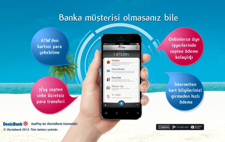 DenizBank'tan Mobil Cüzdan Uygulaması: fastPay